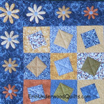 Stuff and stack flower applique close up