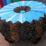 brown and blue tuffet