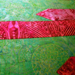 quilting in green 1